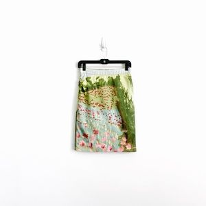 Anthropologie Kevin O'Brien Watercolor Skirt